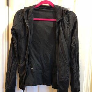 Size 4 Lulu Lemon Reversible Black Zip Jacket